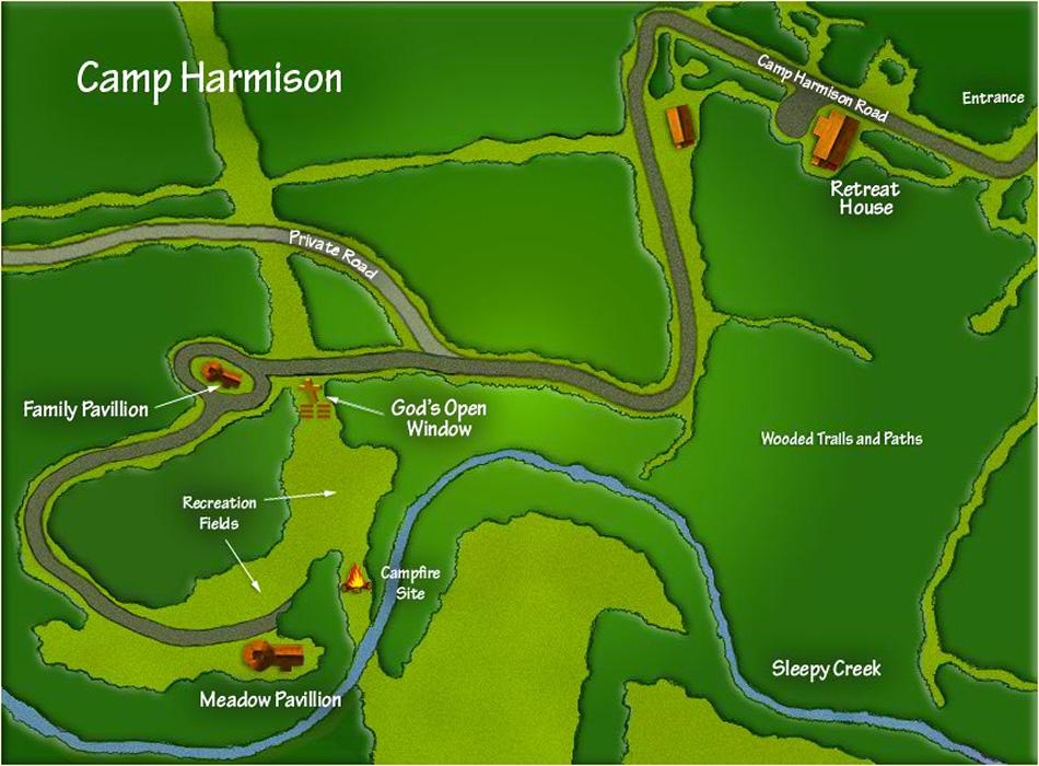 Camp Harmison Map